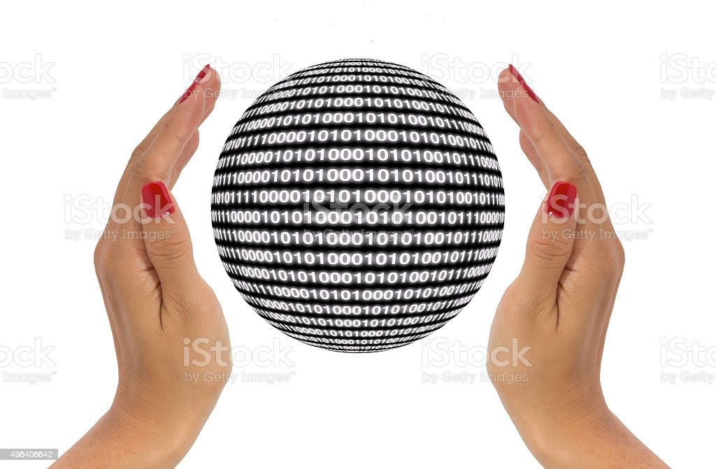 Protect data concept stock photo