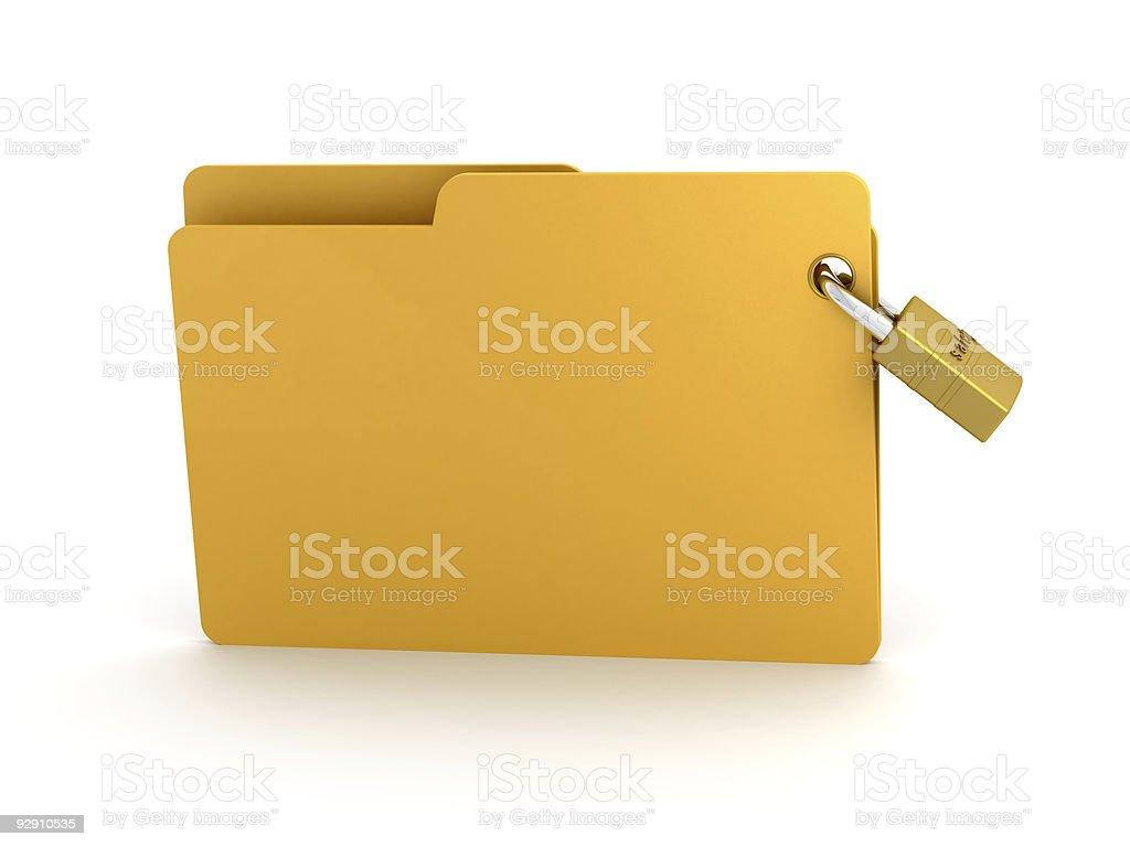 Protect Folders royalty-free stock photo