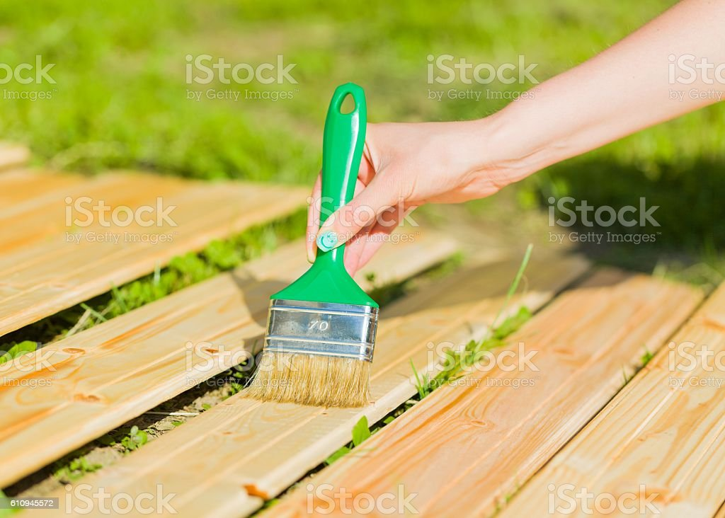 Protect household by working on it stock photo