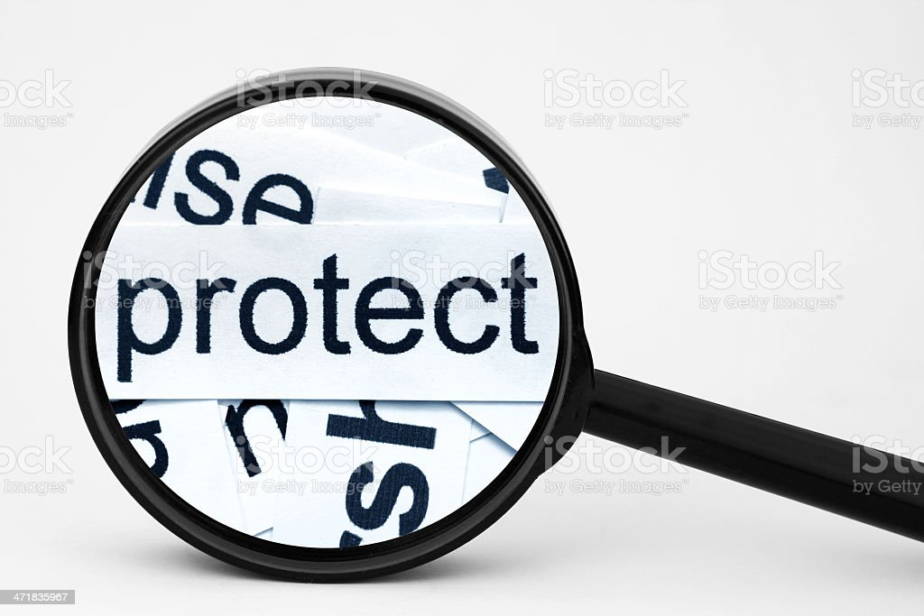 Protect royalty-free stock photo