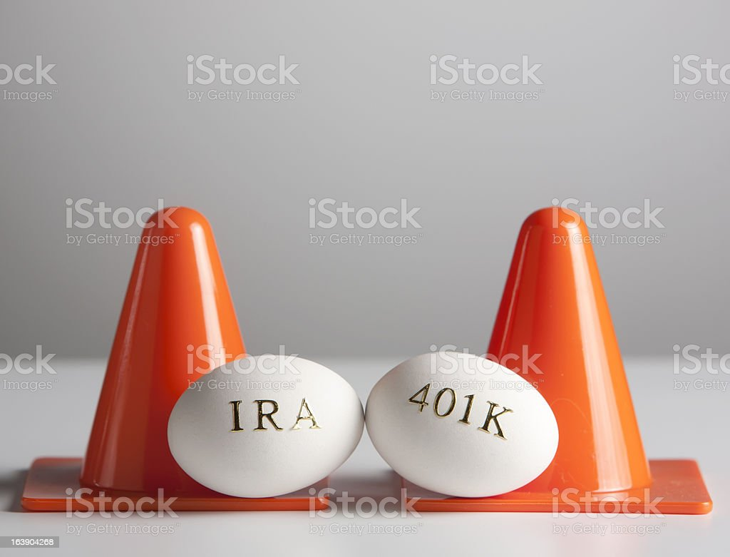 Protect your 401K and IRA nest eggs royalty-free stock photo