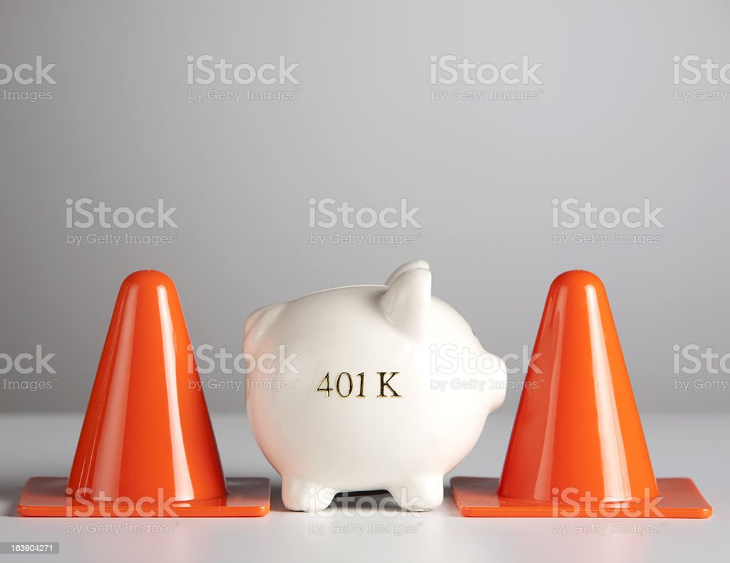 Protect your 401k savings royalty-free stock photo