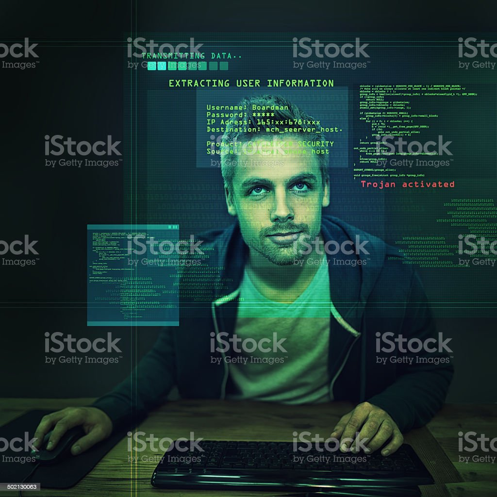 Protect your cyber identity at all costs stock photo