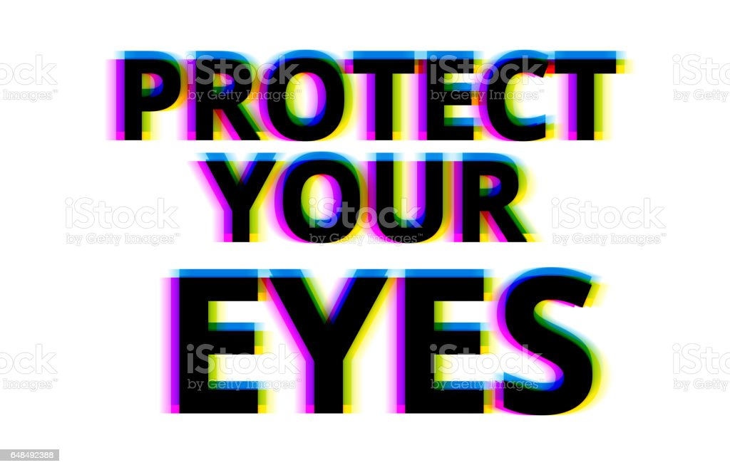 Protect your eyes illustration backdrop vector art illustration