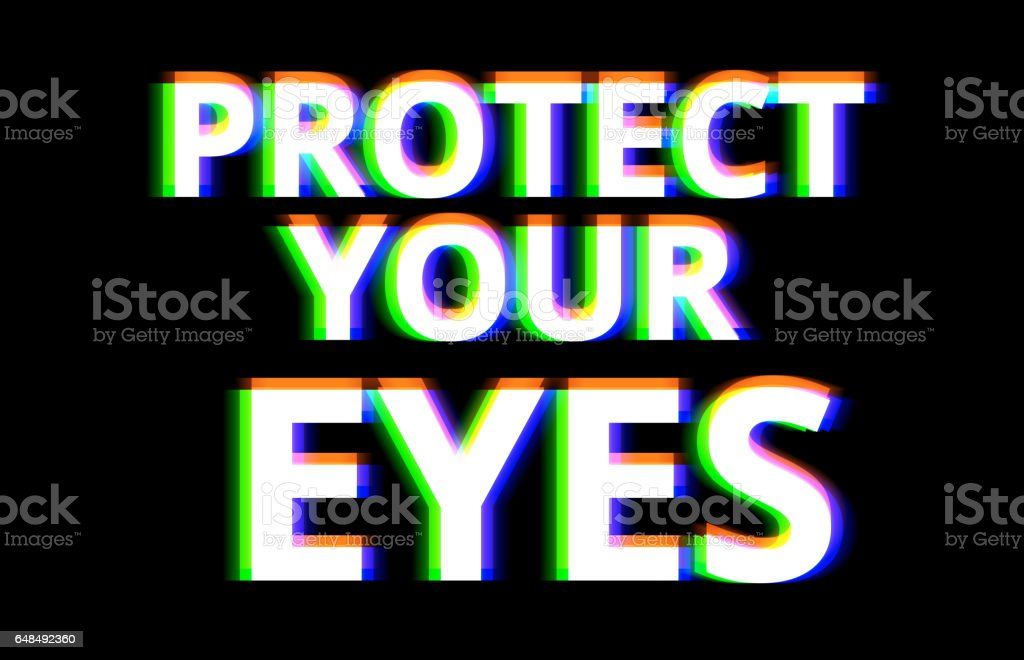 Protect your eyes illustration background vector art illustration