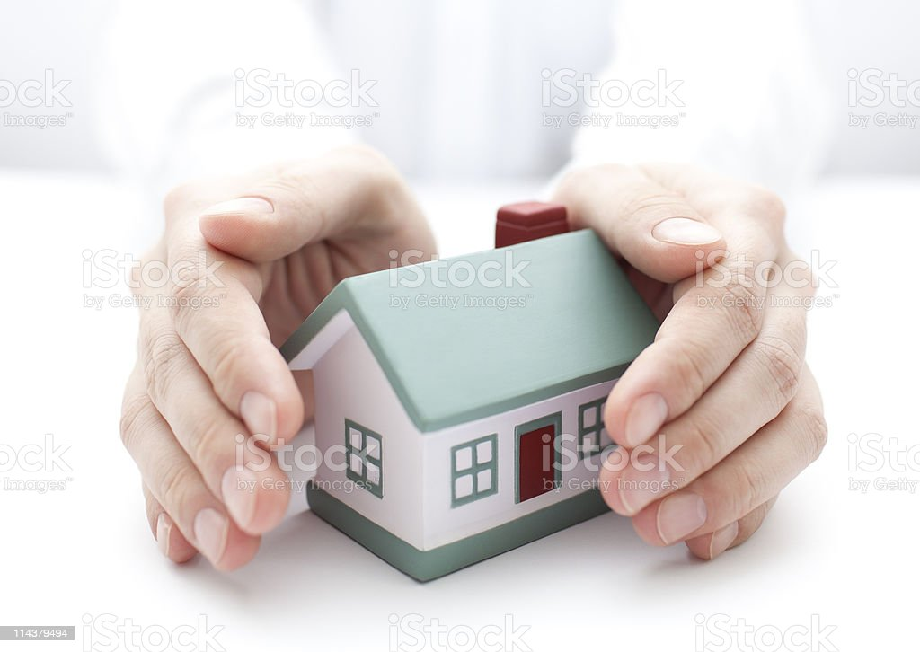 Protect Your House royalty-free stock photo
