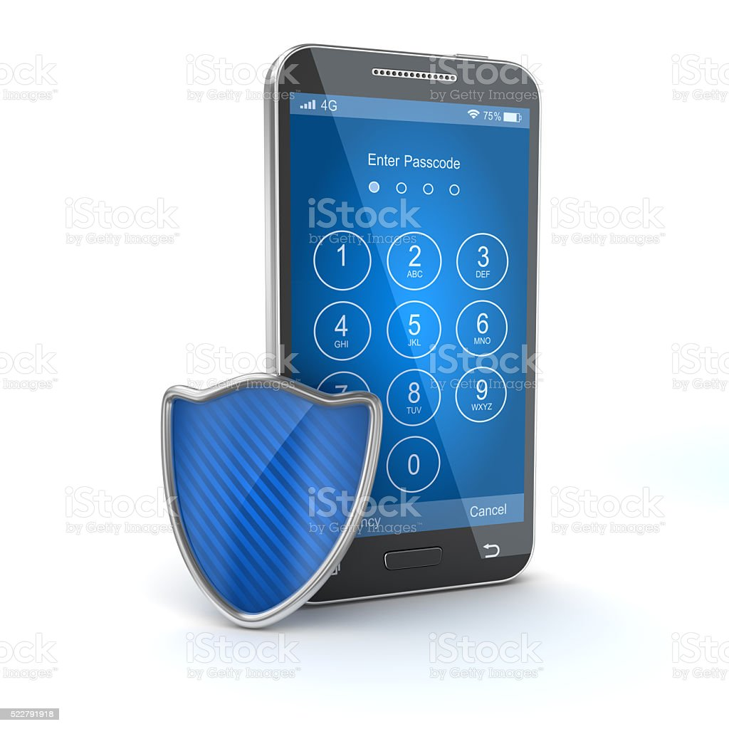 Protect your mobile phone stock photo
