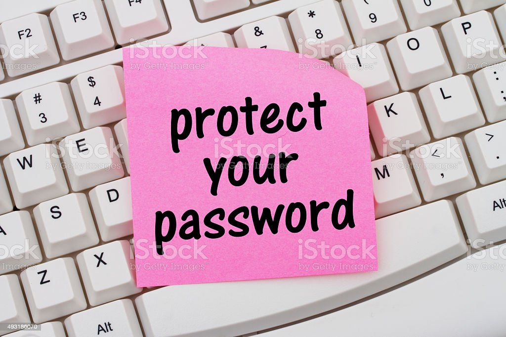 Protect your password stock photo