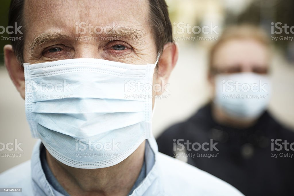 protect yourself (flu protection) stock photo