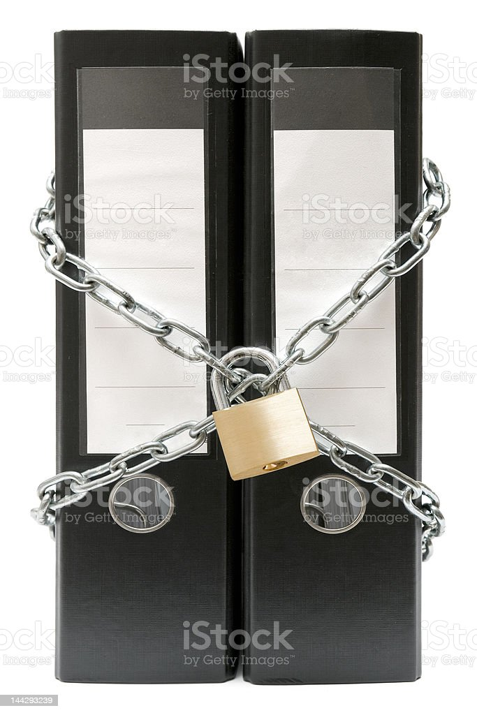 Protected File Folders stock photo