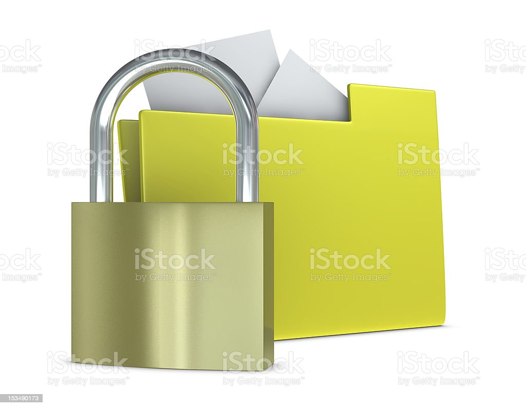 protected folder royalty-free stock photo