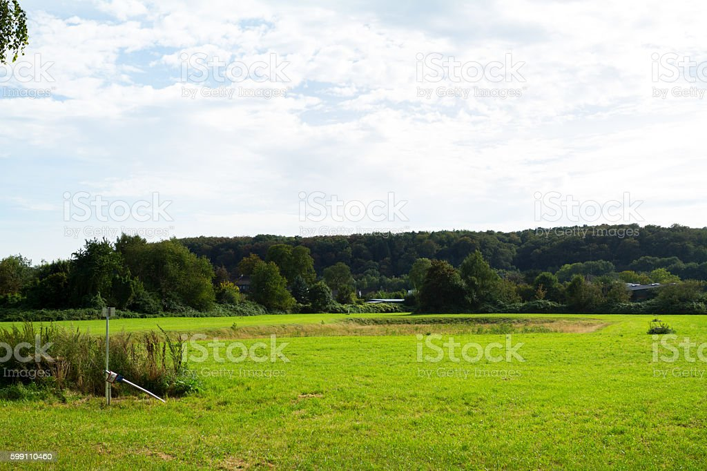 Protected landscape and water preserve stock photo