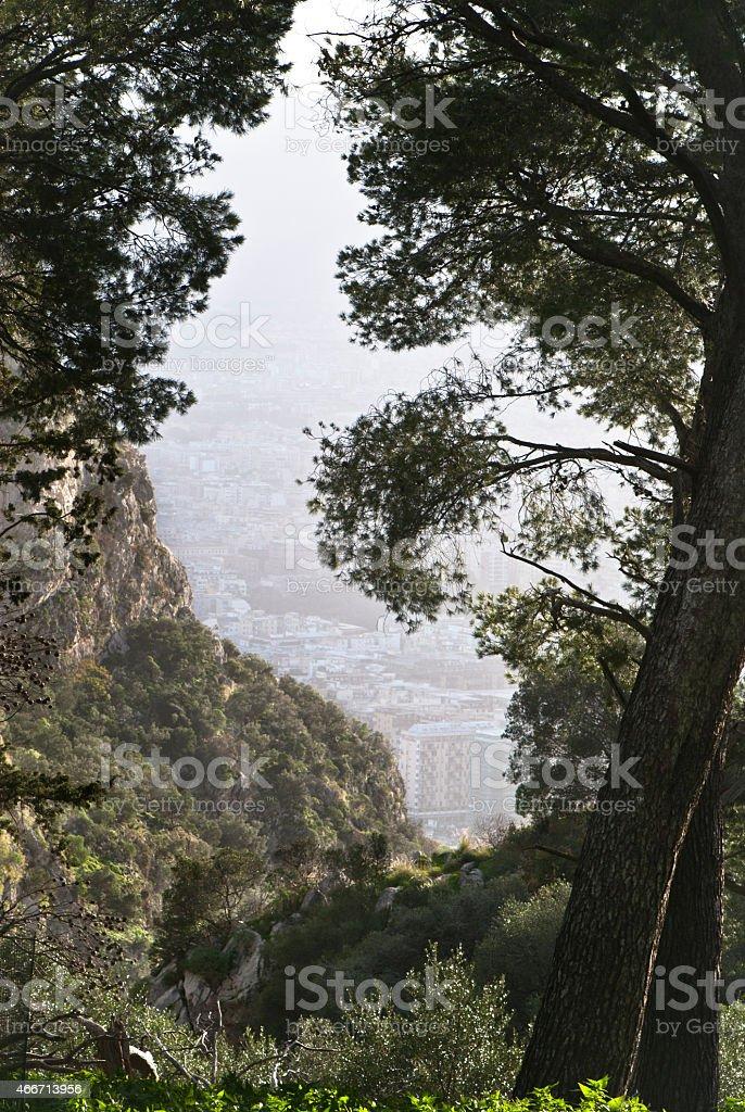 protected reserve of Mount Pilgrim stock photo