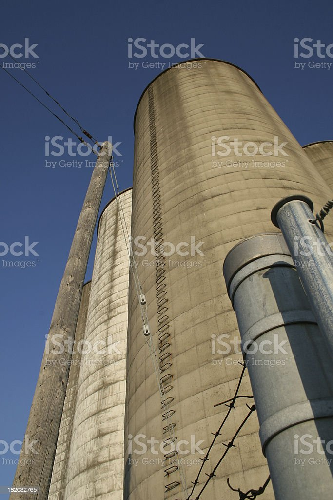 Protected Silo royalty-free stock photo