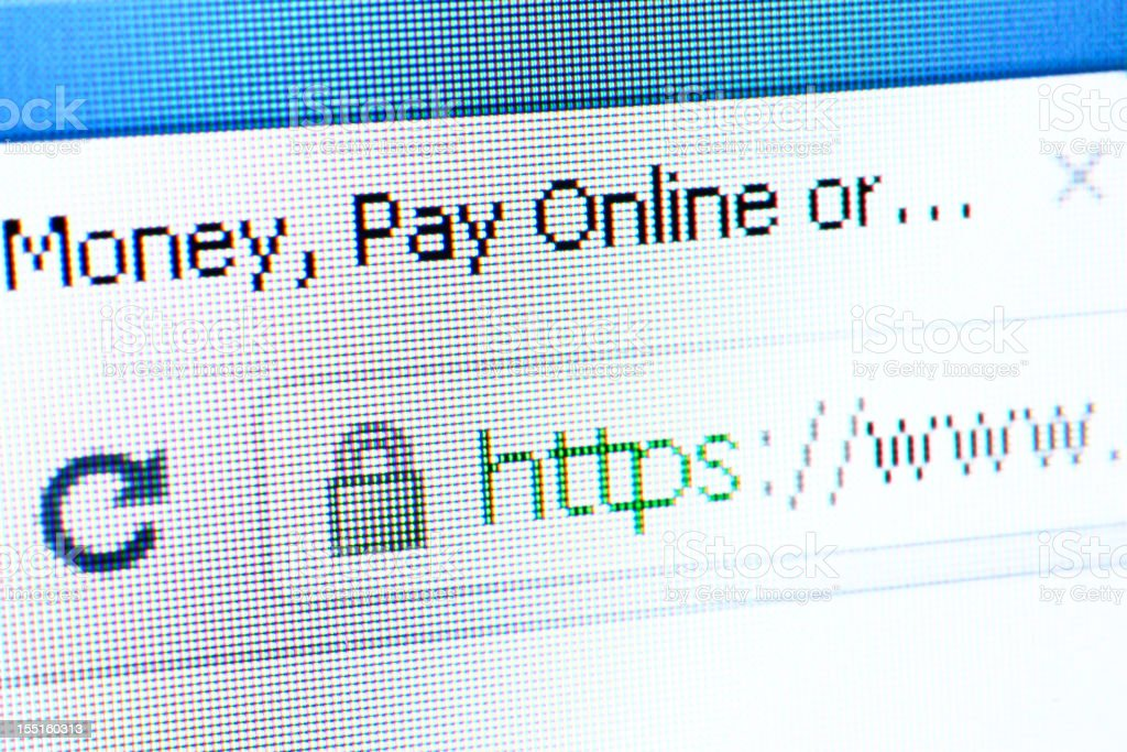 SSL protected website royalty-free stock photo