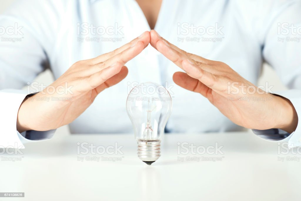 Protecting An Idea stock photo