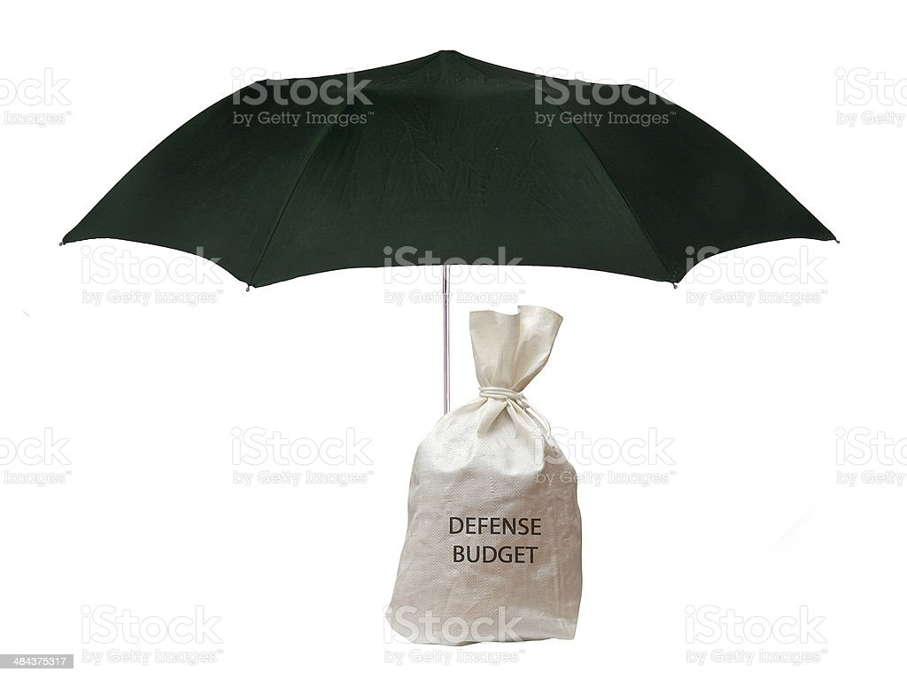 Protecting defense budget royalty-free stock photo