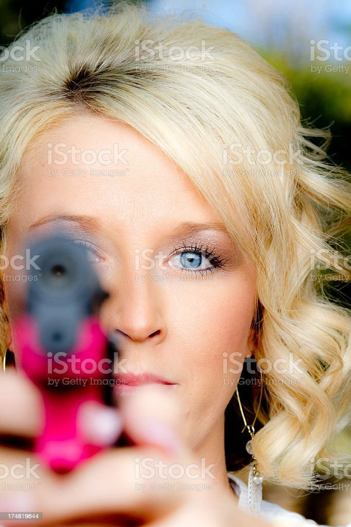 Protecting myself stock photo