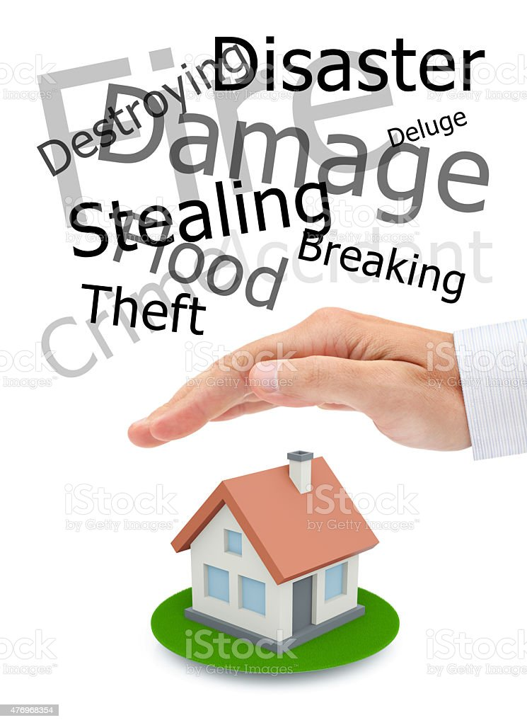 Protecting of your real estate stock photo