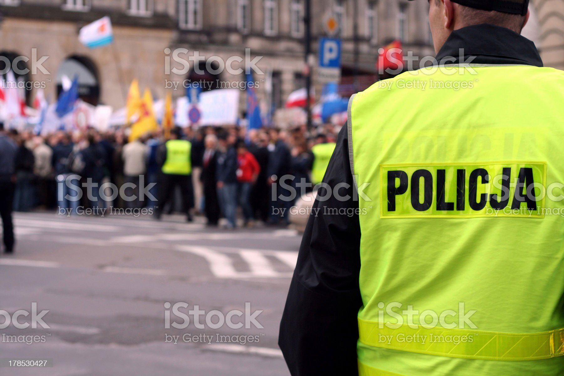 Protecting the demonstration 1 royalty-free stock photo