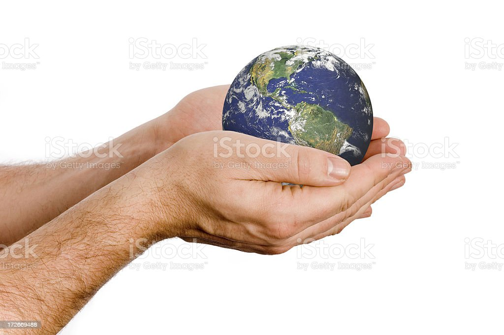 Protecting the earth royalty-free stock photo