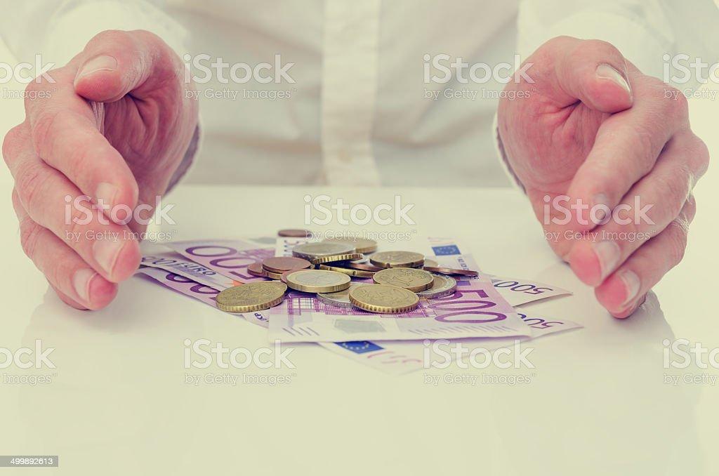 Protecting the Euro stock photo