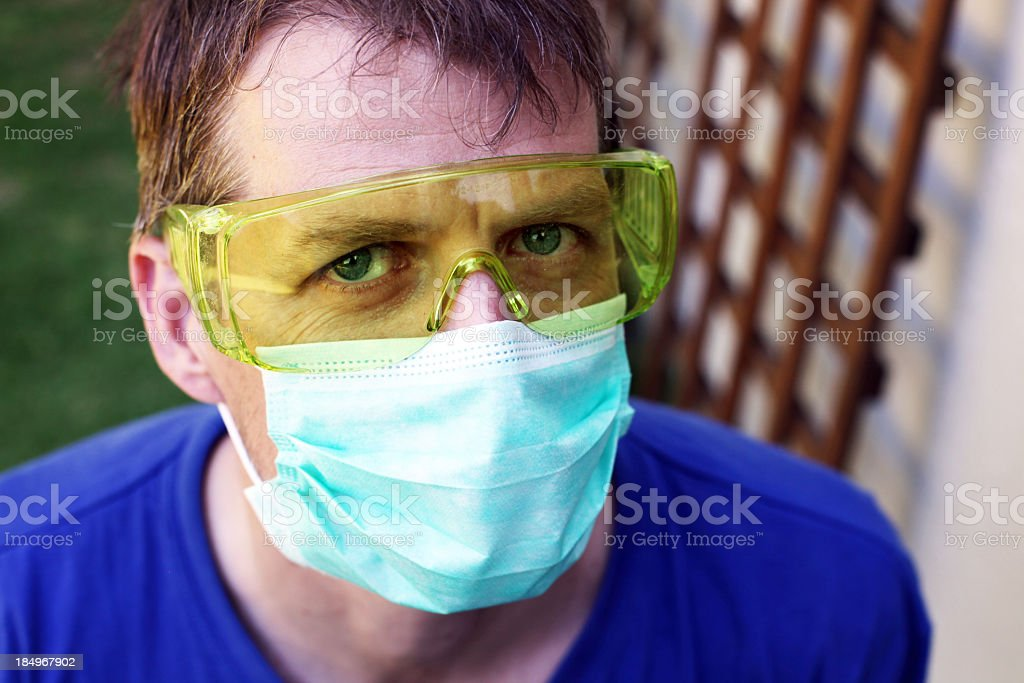 Protecting the face royalty-free stock photo