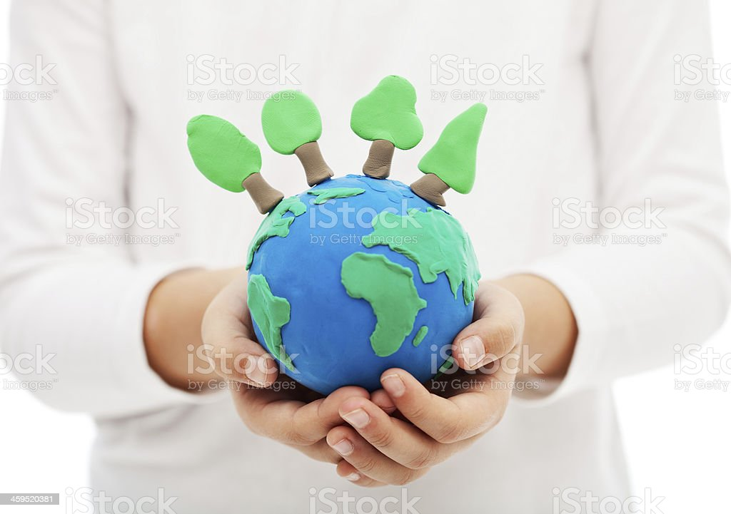 Protecting the forests and ecology concept stock photo
