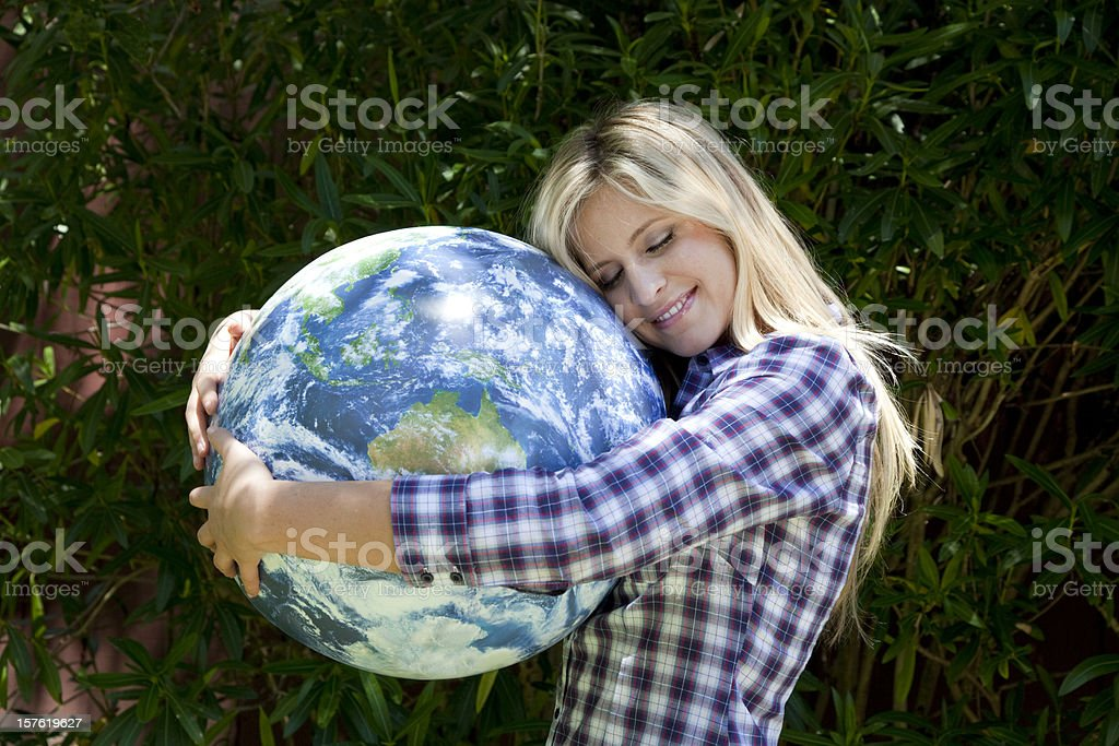 protecting the world royalty-free stock photo