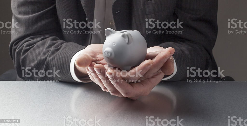 protecting your retirement money royalty-free stock photo