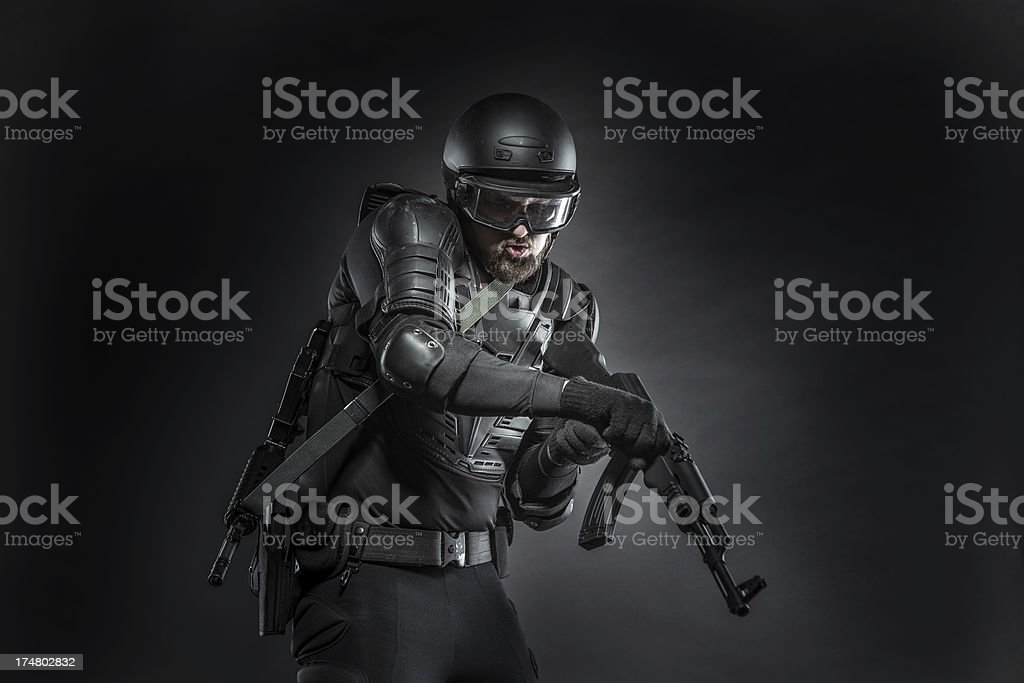 Protection Against Terrorists royalty-free stock photo