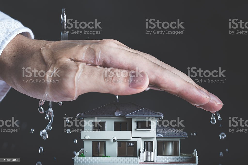 Protection and housing stock photo
