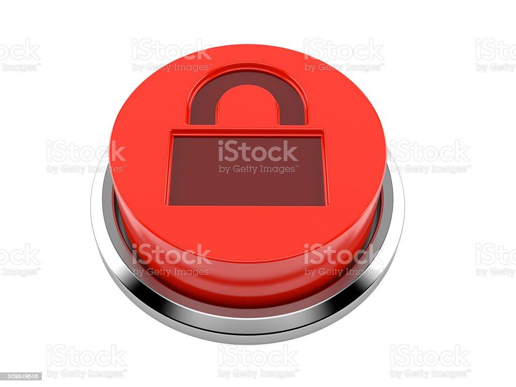 Protection button stock photo