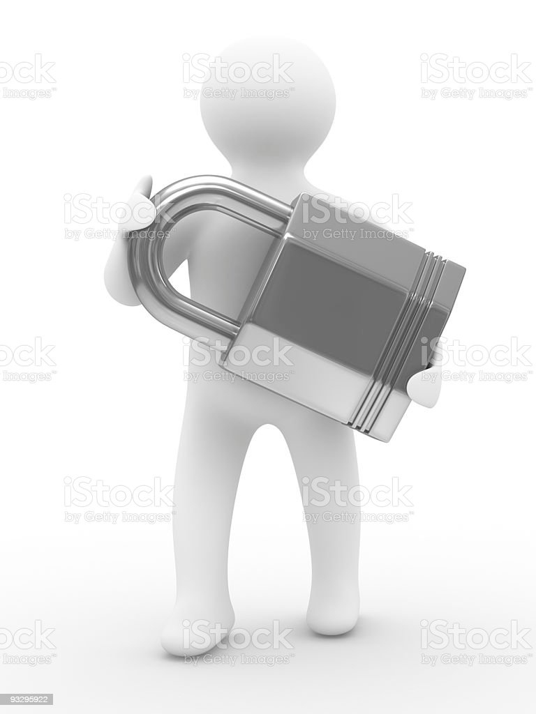 protection concept. Isolated 3D image on white royalty-free stock photo