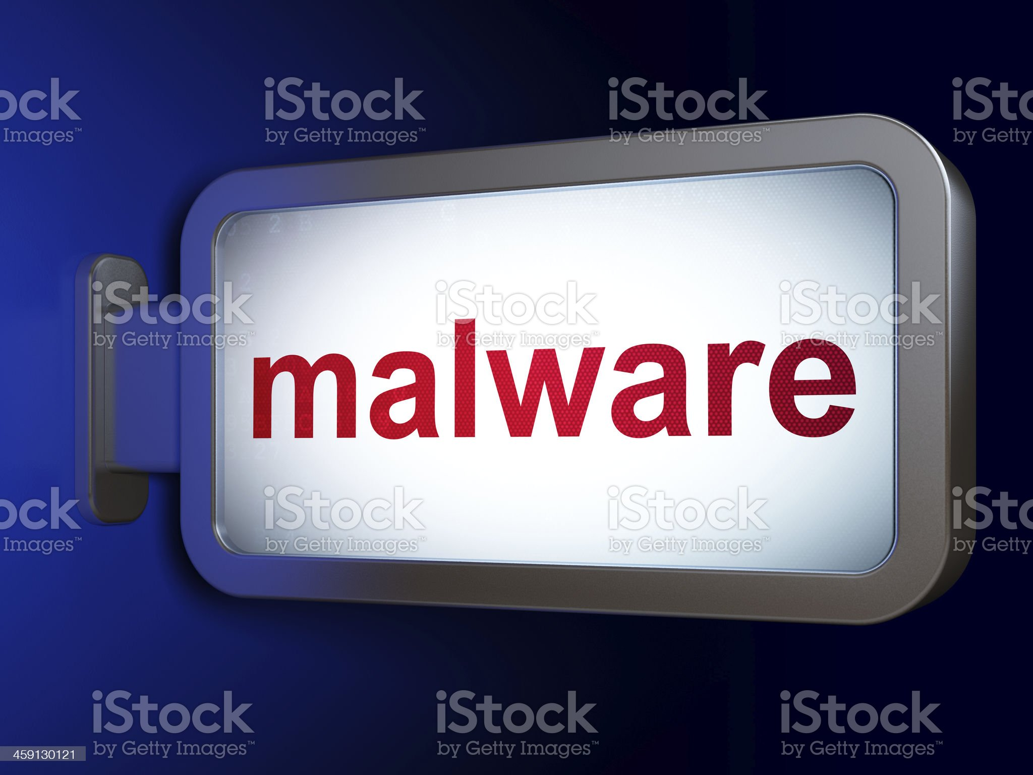 Protection concept: Malware on billboard background royalty-free stock photo