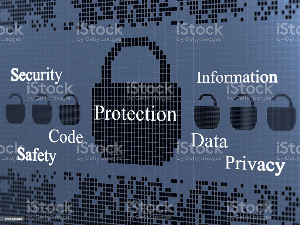 Protection Lock royalty-free stock photo