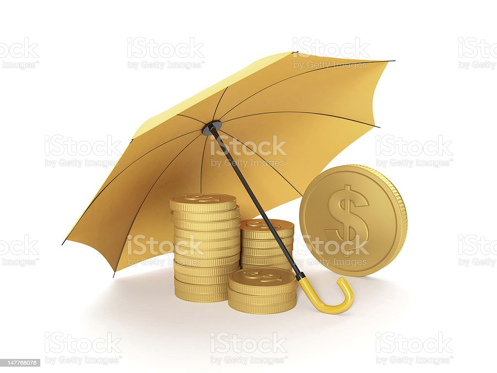 Protection money royalty-free stock photo
