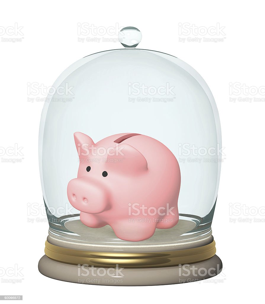 Protection of bank contributions royalty-free stock photo