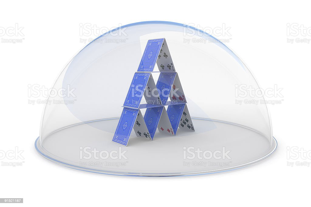 Protection of business concept royalty-free stock photo