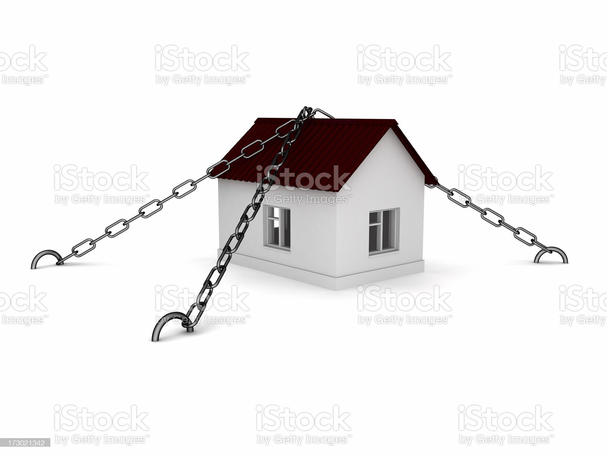 Protection of Homes royalty-free stock photo