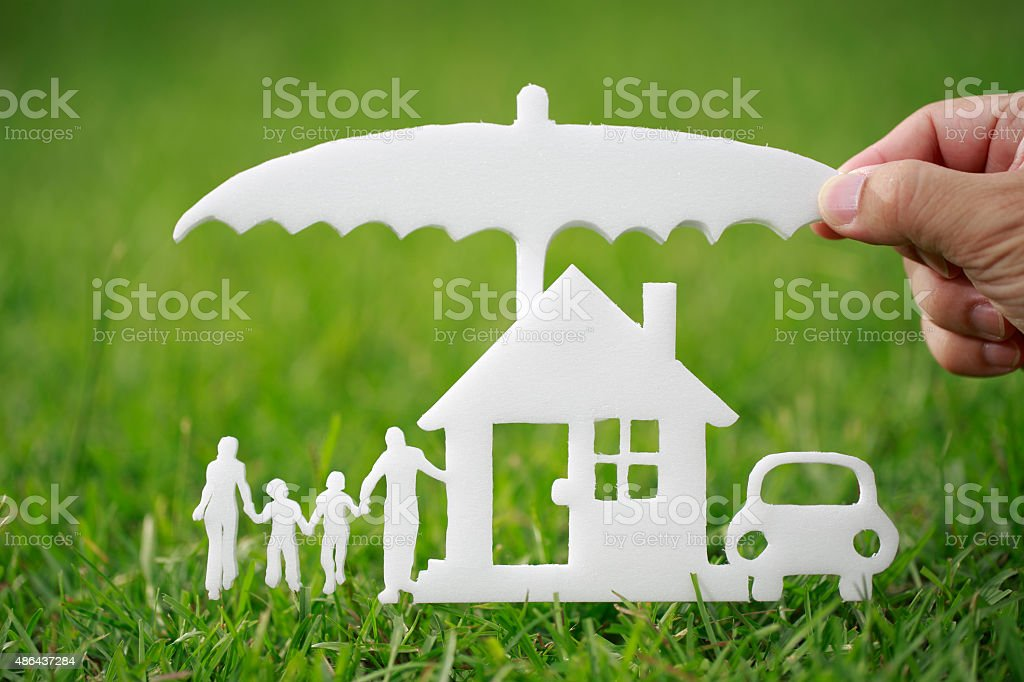 Protection of the family property stock photo