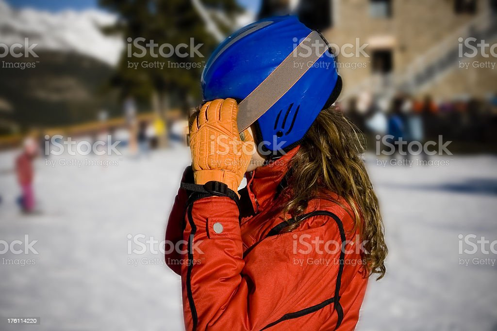 Protections for the snow stock photo