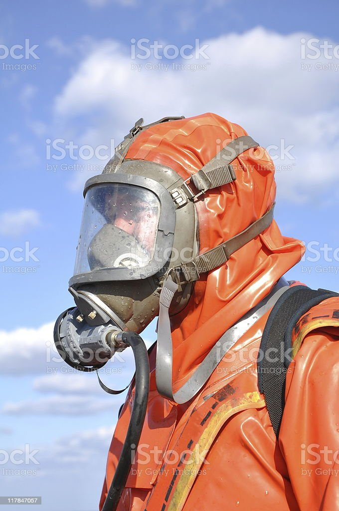 protectiv chemical suit royalty-free stock photo