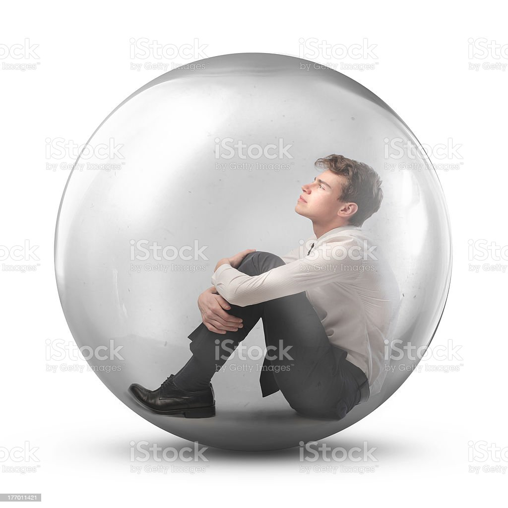 Protective bubble stock photo