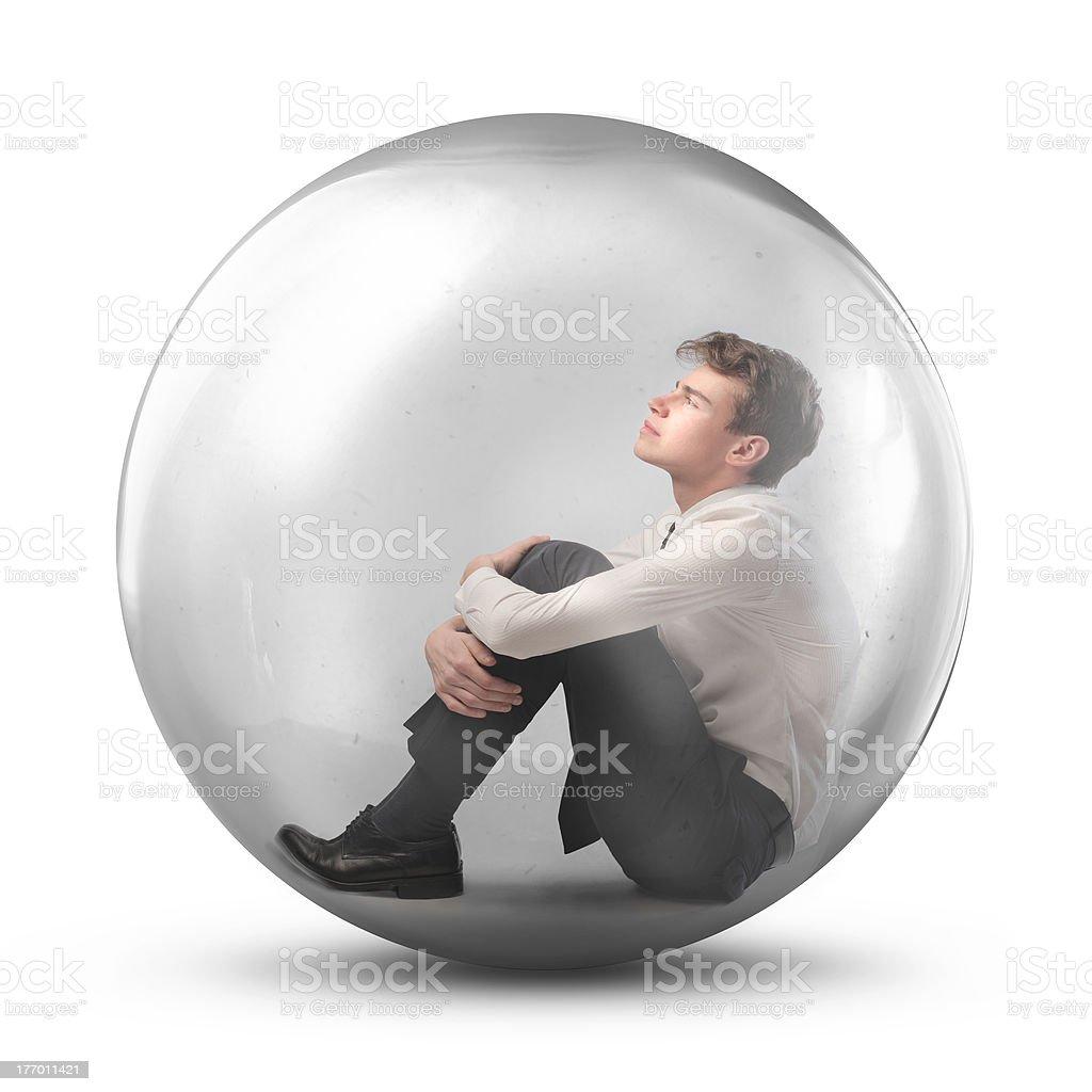 Protective bubble stock photo