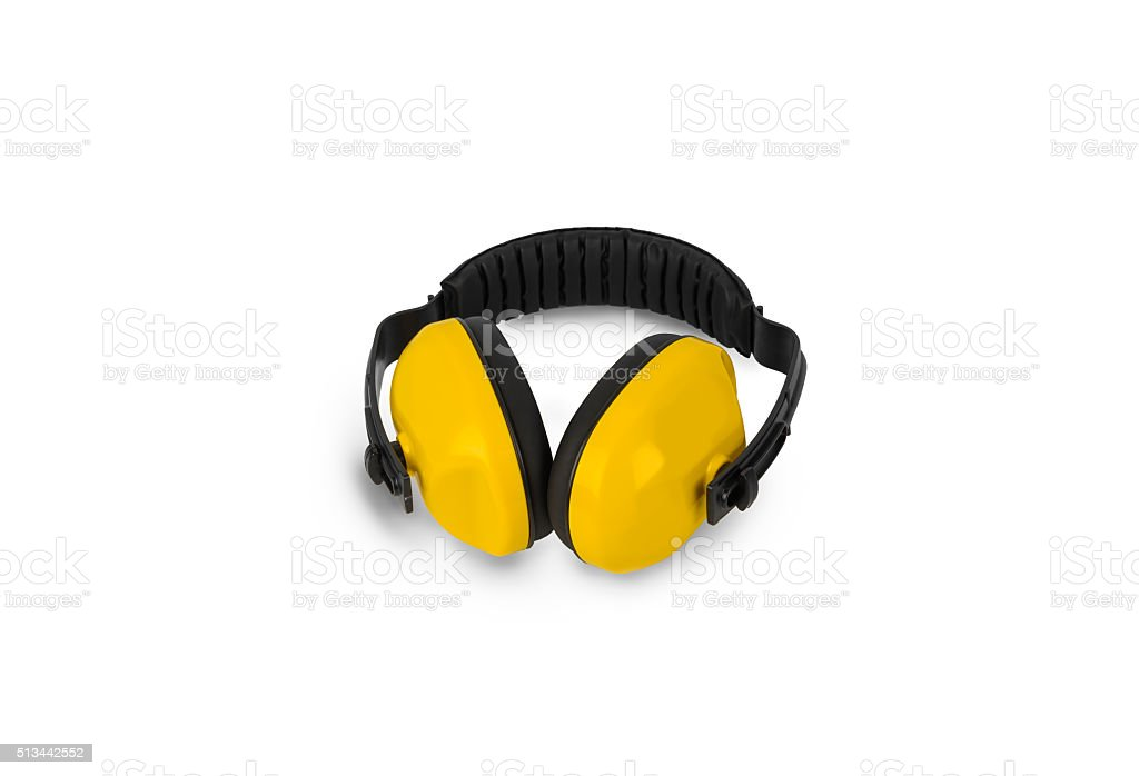 Protective ear muffs Isolated stock photo