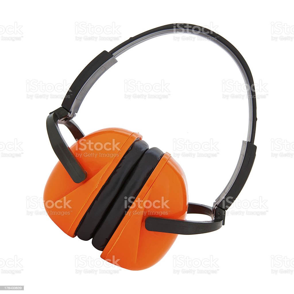 protective earwear stock photo