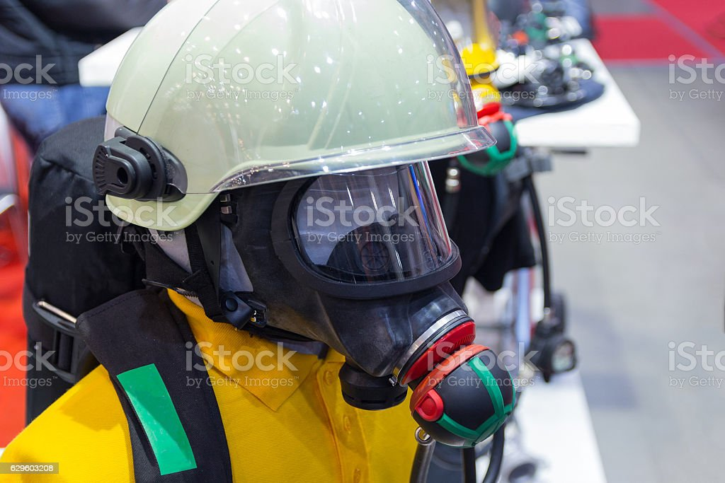 Protective equipment lifeguard on a mannequin. Industry stock photo