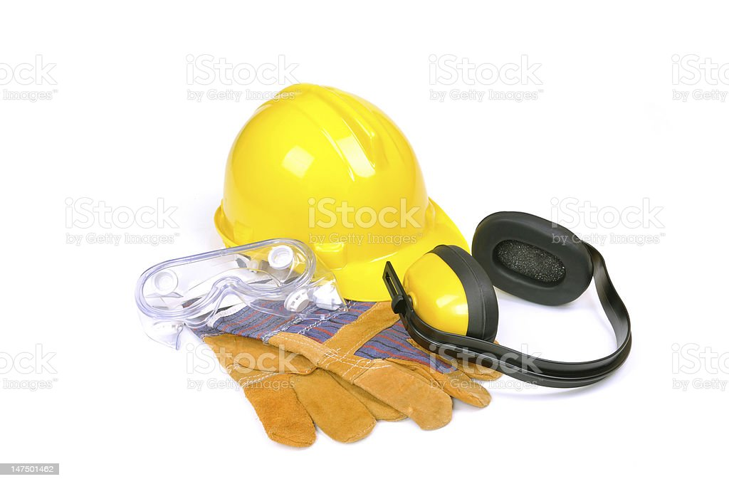 protective equipment on white royalty-free stock photo