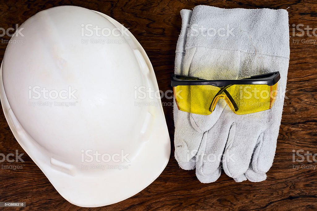 Protective equipments. stock photo